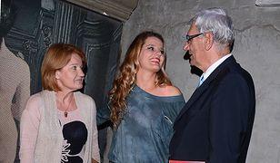 Zofia Zborowska z rodzicami Wiktorem Zborowskim i Marią Winiarską w 2014 roku