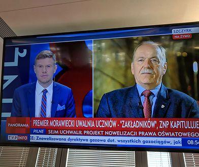 Strajk nauczycieli 2019. Zdumiewająca belka TVP Info