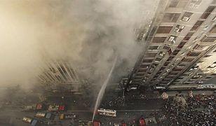 Płonie wieżowiec w Bangladeszu. W środku wciąż są ludzie