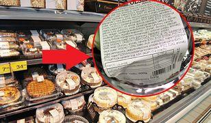 Etykieta gotowego tortu miała... 19 linijek.