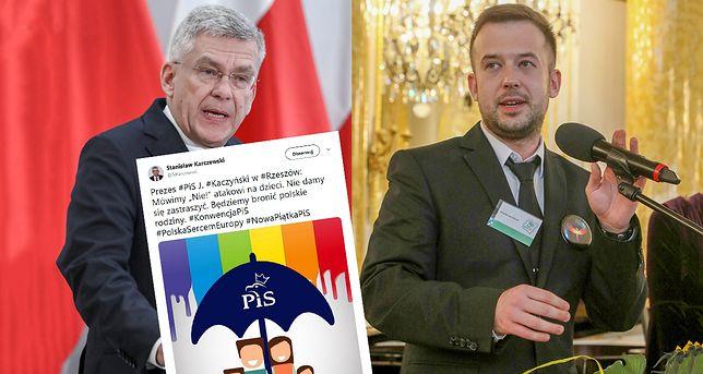 Przemysław Staroń komentuje grafikę udostepnioną przez Stanisława Karczewskiego.