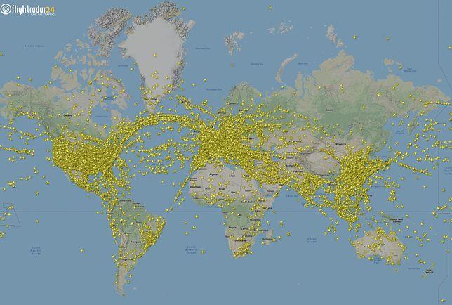 Jest to rekord od czasu rozpoczęcia śledzenia lotów przez Flightradar24
