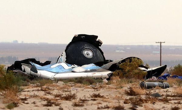 Szczątki statku SpaceShipTwo