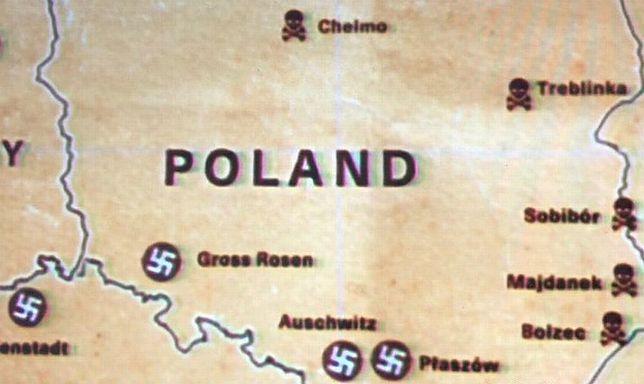 Obozy z czasów wojny, mapa Polski współczesna
