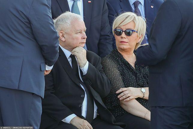 Jarosław Kaczyński i Julia Przyłębska, prezes TK