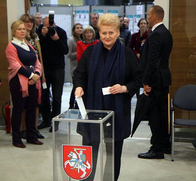 Swój głos w wyborach oddała już prezydent Litwy Dalia Grybauskaite