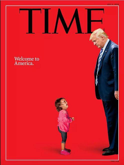 Donald Trump kontra mała migrantka. Wymowna okładka Time'a
