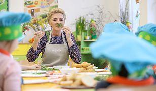 Agata Duda przygotowywała kanapki razem z przedszkolakami
