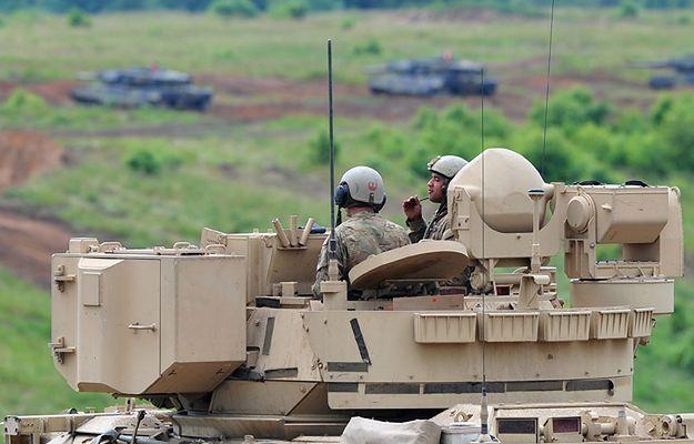 Żołnierze amerykańscy podczas ćwiczeń na Poligonie Drawskim, czerwiec 2015 r.