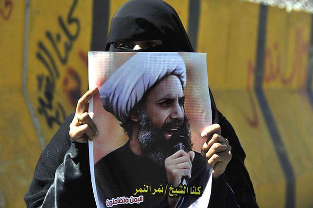 Protest po ogłoszeniu wyroku skazującego szejka Nimr al-Nimra w 2014 r.