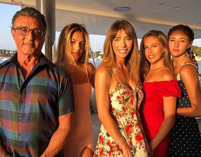 Sylvester Stallone na rodzinnych wakacjach w Nicei, lipiec 2018