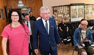 Na spotkaniu w Gdyni Stanisławowi Karczewskiemu towarzyszyła Dorota Arciszewska-Mielewczyk
