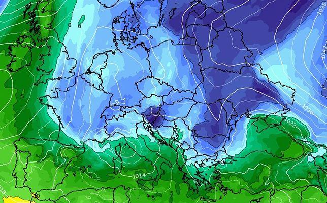 Pogoda. We wtorek chłodno. Deszcz tylko w części Polski (wxcharts.com)