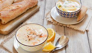 Wigilijna zupa krem z łososia norweskiego