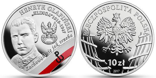 "Nowa moneta kolekcjonerska NBP – Henryk Glapiński ps. ""Klinga"""