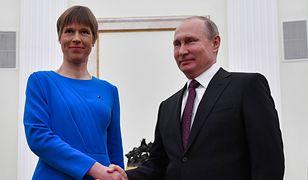 Kersti Kaljulaid i Władimir Putin