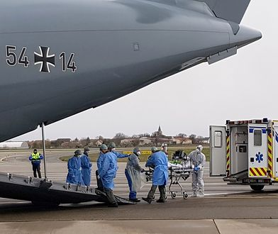 Samoloty Bundeswehry transportują chorych z Włoch i Francji do Niemiec