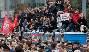 Na sobotniej demonstracji w Moskwie było ok. 60 tys. osób