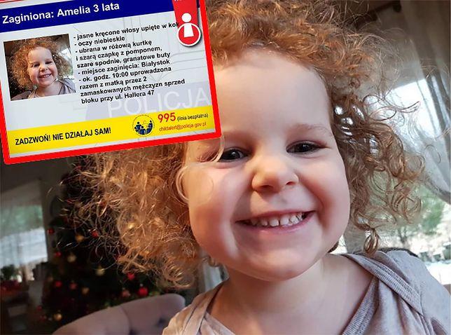 3-letnią Amelię porwano razem z mamą