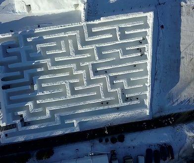 Największy lodowy labirynt na świecie. Atrakcja podbija Zakopane