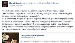 """""""Magda, nie pier..."""" - spór o napiwki. Gessler kontra Nowak"""
