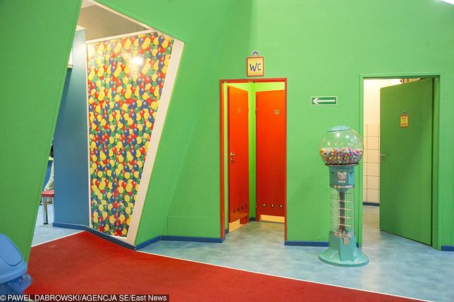 Toaleta w sali zabaw, gdzie doszło do tragedii