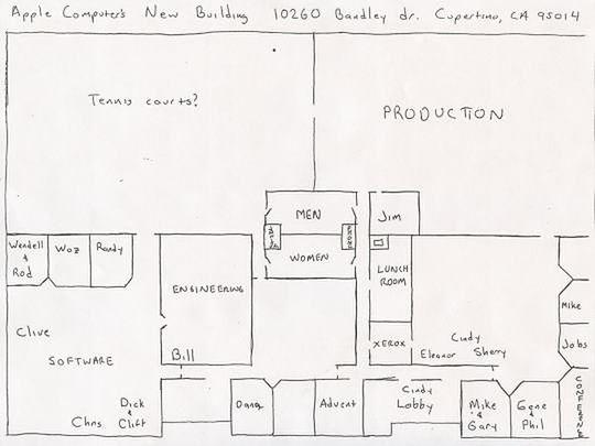 Rozkład pomieszczeń przy 10260 Bandley Drive w Cupertino