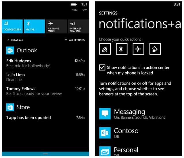 Windows Phone 8.1: Android jednak ma rację