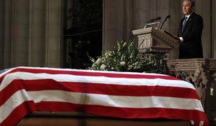 Andrzej Duda na ceremonii pogrzebowej George'a Busha seniora