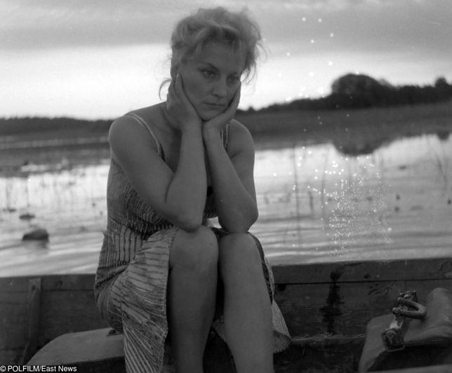 """Irena Laskowska w filmie """"Mężczyźni na wyspie"""" (1962)"""
