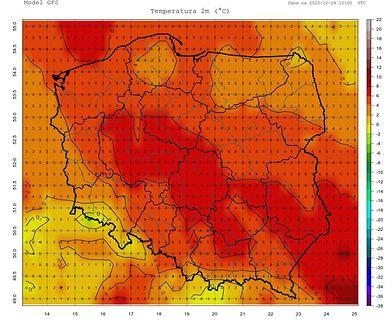 Pogoda. Początek tygodnia przyniesie ocieplenie oraz silny wiatr halny