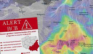 Pogoda. Burze z gradem mogą pojawić się w poniedziałek oraz w nocy w wielu regionach kraju