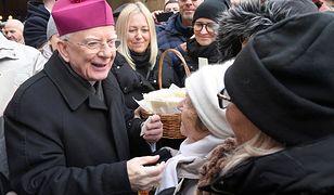 Abp Marek Jędraszewski podczas opłatka z mieszkańcami Krakowa