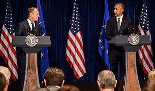 Donald Tusk i Barack Obama na wspólnej konferencji