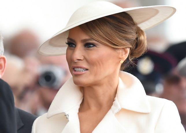 Melania Trump podczas wizyty w Wielkiej Brytanii