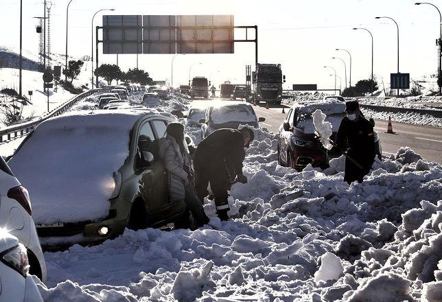 Pogoda w Hiszpanii. Skutki śnieżycy w Madrycie
