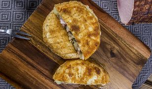 Camembert z nadzieniem z pieczarek i szynki. Pyszna przekąska