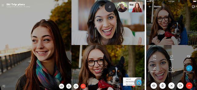 Nagrywanie rozmów Skype. Źródło: Microsoft