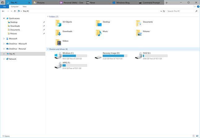 Eksplorator plików w Windowsie 10 RS5. Źródło: windows.blogs.com