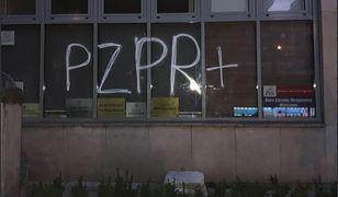 Kolejny atak na biuro PiS. Znany wizerunek sprawcy