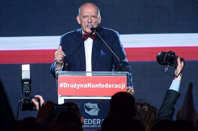 Janusz Korwin-Mikke, jeden z liderów Konfederacji.