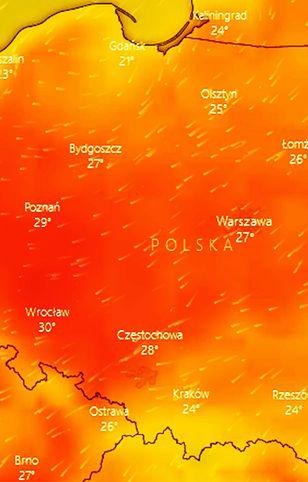 Pogoda. Już w poniedziałkowe popołudnie na południowym zachodzie może być ponad 30 st. C w cieniu