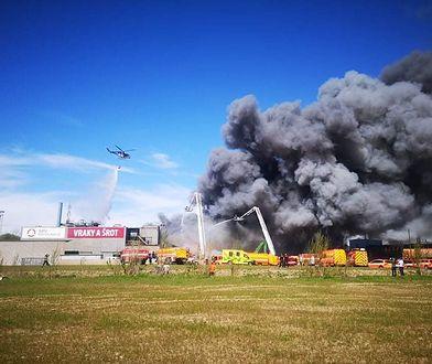 Ogromny pożar w Ostrawie. Słup dymu widoczny nawet na Śląsku