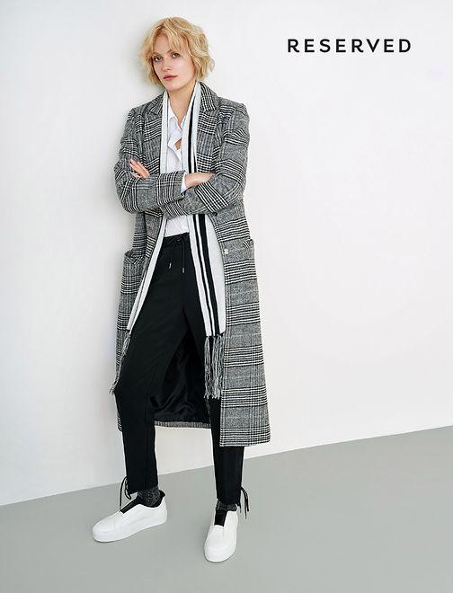 Kolekcja Reserved jesień-zima 2017/18 z modelką Sashą Melnychuk