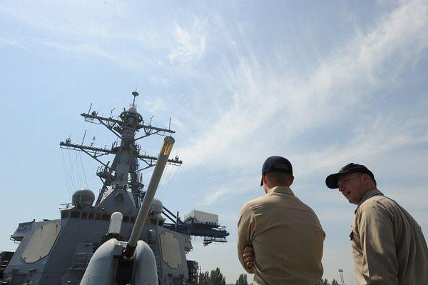 Ćwiczenia Sea Breeze odbywały się także w poprzednich latach. Na zdjęciu: amerykańscy oficerowie podczas manewrów w 2008 r., Odessa