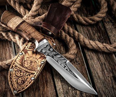 nóż myśliwski ostrze