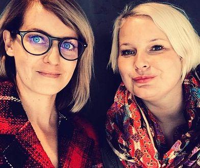 """Karolina Głogowska i Katarzyna Troszczyńska - autorki książki """"Dwanaście życzeń""""."""