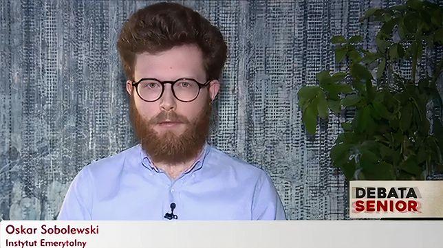 """Jednym z zaproszonych ekspertów do programu """"Debaty seniora"""" był Oskar Sobolewski"""