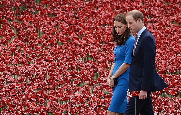 Książę William wraz z księżną Kate