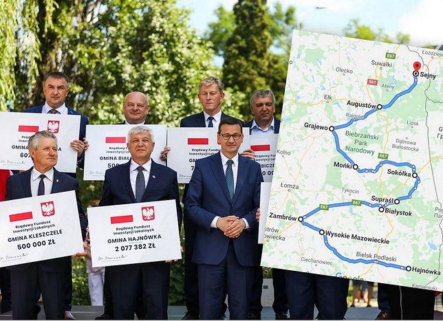 Wybory prezydenckie. Premier Mateusz Morawiecki ruszył na Podlasie. Rozdaje samorządom czeki na miliony złotych